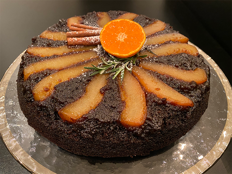 Sticky Toffee Pear Upside Down Cake