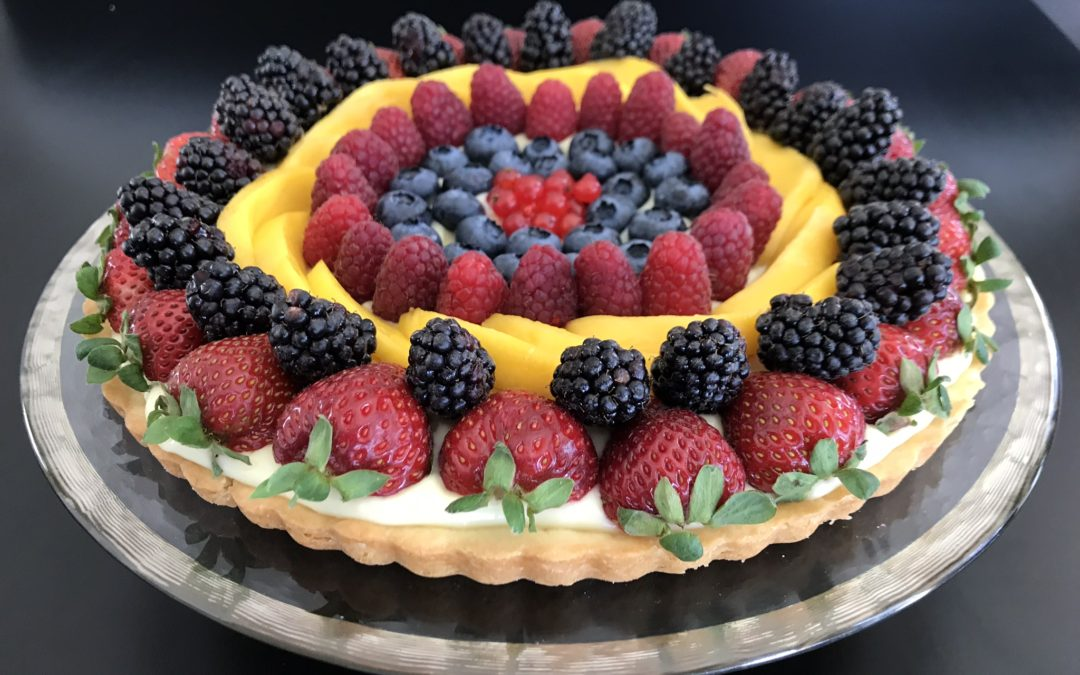 Fresh Fruit Flan with Shortbread Crust