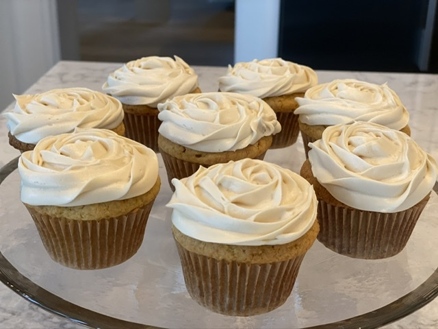 Gluten free Cornflour Cupcakes with Maple Cream Cheese Buttercream